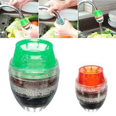 MCDFL 3 PCS Household Kitchen Faucet Activated Carbon Water Purifier Tap Water Filter Water Clean Random color 3 pcs