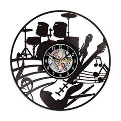 Musical Instruments Guitar Vinyl Record Wall Clock 12
