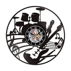 Musical Instruments Guitar Vinyl Record Wall Clock 12