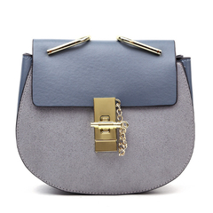 Women Cross body Bag Saddle Shoulder Bags Small Purse Handbags with Chain blue one size