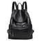 Women PU Leather Travel Backpack Purse Shoulder Bag Satchel Handbag Zipper Pocket BLACK One Size