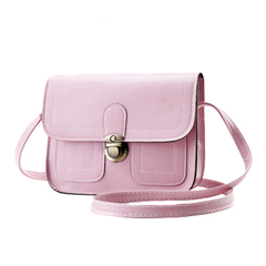 Ladies Vintage Small Messenger Bag Shoulder Handbag Cross Body Purse Bags Handbags pink one size