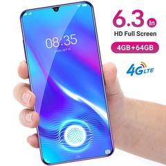 New phone 6.3inch 4G+64G 13MP+8MP 4G LTE Face&Fingerprint unlocking VIVK X23 Dual SIM smartphone black 4+64g