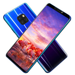 New mobile phone mate20 6.1 inch HD 4+64GB Face&Fingerprint unlock 16+8MP Smart phone android 8.1 blue
