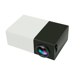 YG300 YG-300 Mini LCD LED Projector 400-600LM 1080p Video 320 x 240 Pixel Best Home Proyector white-black 126.4*85.8*47.7MM