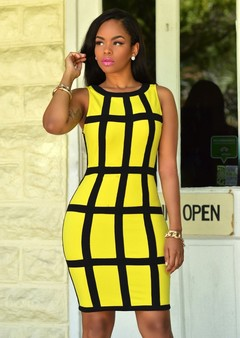 Fashion Fohting Sexy Women Dress Bandage Cocktail Sleeveless Bodycon Evening Party Dresses