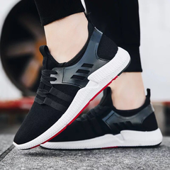 Men Slip-Ons sports shoes Men's Casual Shoes Breathable Canvas Sneakers Shoes For Men A-black 39