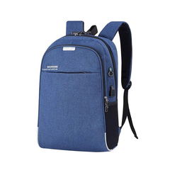 Anti theft Men Laptop Backpacks Waterproof USB Charging Design Backpack Business Travel Bag blue 46.0 cm * 30.0 cm * 13.0 cm