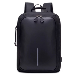 Fashion Men Business Backpack USB Design Laptop Bag Women Backpack Smart Anti-Thief Backpack Bags black one size