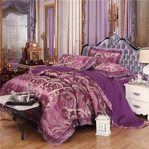100% Preferred Cotton 4Pcs Bedding Set(1 Duvet cover+1 Bed sheet+2 Pillow covers) Smooth Soft a-color as picture 2.0m-bed