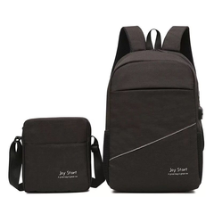 2pcs High Quality Casual Men Women Backpack Business Working Daypack Laptop Notebook Brand black one size