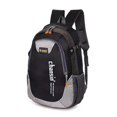 Backpack waterproof mountaineering bag travel bag male and female student bag black one size