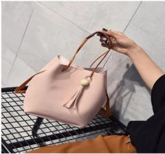 2019 new diagonal shoulder bag Fashion Women Bags Ladies Handbag PU Leather High Quality Pink one size