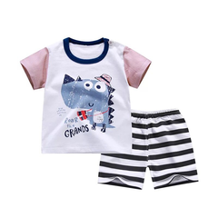 New fashion baby boys clothes set cotton material with striped print infant clothing set e-color as picture 90cm
