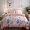 4Pcs Bedding Set (1 Duvet cover+1 Bed sheet+2 Pillow covers) Super Wash Padding Cotton Elasticity a-color as picture 2.0m-bed