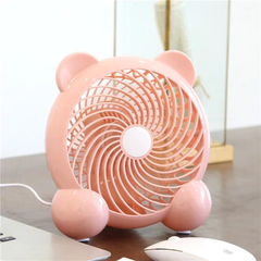 Desk Mini Fan 7Inch USB Mini Portable Fan 7Inch USB Fan Modes for Home Room Office Table pink