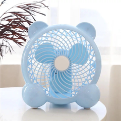 Desk Mini Fan 7Inch USB Mini Portable Fan 7Inch USB Fan Modes for Home Room Office Table blue
