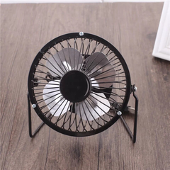 Desk Mini Fan Portable Ultra-quiet Cooling Mini Fan 4 Inch Desktop Usb Fan black