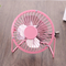 Desk Mini Fan Portable Ultra-quiet Cooling Mini Fan 4 Inch Desktop Usb Fan pink