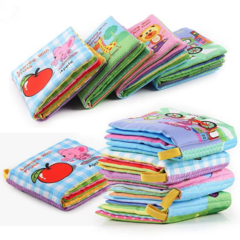 Newborn Baby Toys Learning Educational Baby Cloth BooksToy Newborn Crib Bed Baby Toys(4Pcs) Random 4Pcs