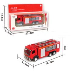 Wonderful Toy Fire Truck Model Children and Boys Simulate Toy Ladder Truck Sprinkler Model Red-A One size
