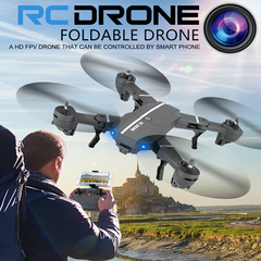 8807W UAV 720P/2MP Wide Angle WiFi camera FPV RC Drone Foldable Quadcopter Altitude Hold Helicopter Without camera with 1 x battery