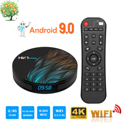 HK1 MAX Android 9.0 Smart TV Box 2+16 RK3328 Quad Core WiFi 4K HD Set top Box Media Player Receiver