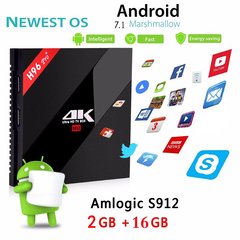 H96 PRO + Plus Android 7.1 Smart TV BOX S912 4K Media Player 2G 16G Gigabit Set top Box 2.4G 5G WiFi
