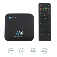 M16 Android 7.1 Smart TV Box S905X 1G 8G 2.4G WiFi Set top Box 4K UHD H.265 VP9 HDR10 Media Player