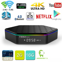 Android 7.1 TV BOX T95Z Plus Amlogic S912 Octa Core 2G 16G T95Z+ Set Top box 2.4G/5G Dual WiFi BT4.0