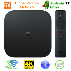Xiaomi Mi Box S Android 8.1 TV Box 4K HDR Set top Box Google Assistant Remote Streaming Media Player