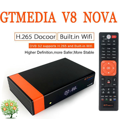 Receptor GTMEDIA V8 DVB S2 NOVA Digital Satellite TV Box Video Receiver BuiltIn WIFI H.265 AVS 1080P