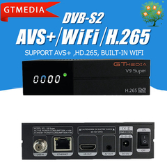 Receptor GTMEDIA V9 Super Video Digital Satellite Receiver DVB S2 TV Box BuiltIn WIFI H.265 PowerVu