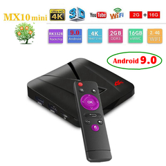 MX10 mini Android 9.0 Smart TV Box RK3328 Quad-Core 2G 16G Set Top Box 4K 3D WiFi H.265 Media Player