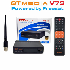 GTMEDIA FREESAT V7S HD Satellite TV Receiver with USB WIFI FTA DVB-S2 Satellite Decoder Receptor Box