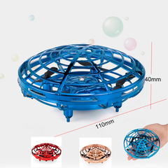 F802 Drone Infrared Induction Hand Control UFO RC Training Drone Quadcopter Children Kids Toy UAV BLUE F802
