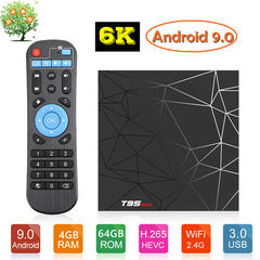 T95 Max Android 9.0 Smart TV Box 4G 64G Allwinner H6 6K HDR WiFi Google Player T95MAX Set Top Box