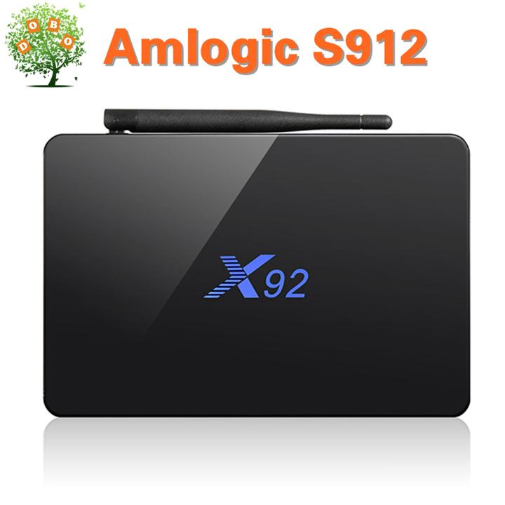 X92 Android 7.1 Smart TV Box 3G 32G Amlogic S912 Set top Box 5G Dual Wifi 4K H.265 BT4 Media Player