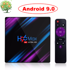 H96 Max Android 9.0 Smart TV Box RK3318 4K UHD 4G 32G Set top Box 5G Dual WiFi Media Player USB3.0