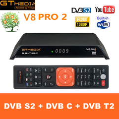 GTMedia V8 pro2 Satellite TV Receiver H265 DVB-S2 DVB-C DVB-T2 Built-in WiFi 1080P Full HD Receptor