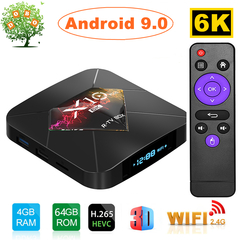 R-TV BOX X10 Plus Android 9.0 Smart TV Box 4G 64G Allwinner H6 WiFi Set top Box 6K 4K Media Player