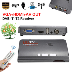 Digital HDMI 1080P DVB-T2 DVB-T TV Box VGA AV CVBS Tuner HD Satellite Receiver Remote Set top Box