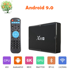 X96H Android 9.0 Smart TV Box H603 6K 4K H.265 2.4G 5G WIFI BT4.1 Set top Box 2G 16G IP Media Player