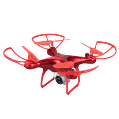 1080P HD Camera RC Drone Wifi FPV 23Mins Flight Quadcopter ALTHold Helicopter Dron S28W Aircraft Toy Red with 1 x battery