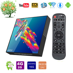 A95X R3 Android 9.0 Smart TV Box 4G 32G RK3318  2.4G&5G WiFi Set top Box 4K 3D HD BT4.0 Media Player