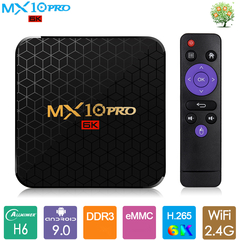 Android 9.0 Smart TV Box MX10 PRO Allwinner H6 2G 16G Set top Box UHD 6K 4K H265 USB3.0 Media Player