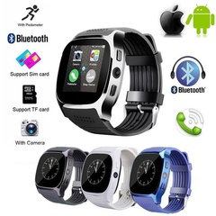 Bluetooth Smart Watch With Camera Music Facebook Sync Smartwatch Support SIM TF Card for ios Android black one size