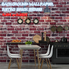 Retro Real Stacked Brick Stone Vinyl Background Wallpaper 53cm X 9.5m as pic one size