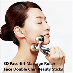3D Face-lift Massage Roller Tool Face Massager Face Double Chin Beauty Sticks as pic