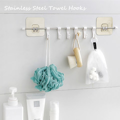 Stainless Steel Towel Hooks Kitchen Hooks 6 Hooks as pic one size
